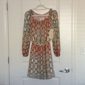 Boston Proper Ombré Python dress, size 2